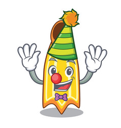 Clown swim fin mascot cartoon vector