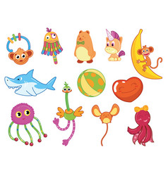 collection children toys kid development and vector image