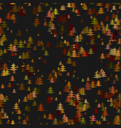 Colored random pine tree background - winter vector