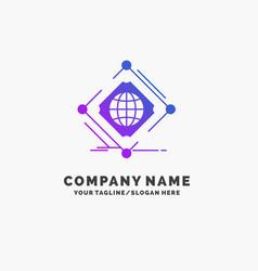 Complex global internet net web purple business vector
