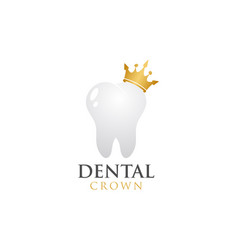 dental crown logo design template vector image