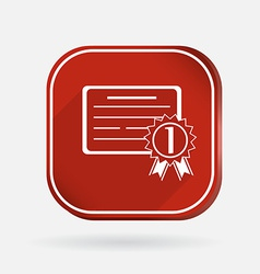 Diploma for the first place Color square icon vector