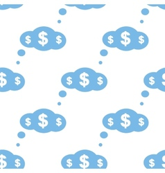Dollar cloud seamless pattern vector image