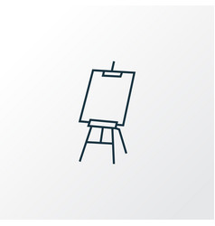 drawing easel icon line symbol premium quality vector image