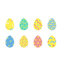 easter eggs minimal design vector image
