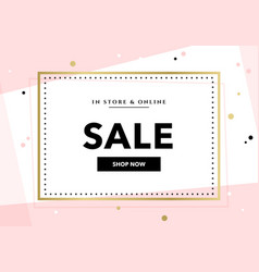 Elegant sale and discount promo background vector