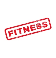 Fitness Text Rubber Stamp vector