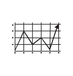 Flat icon in black and white growing schedule vector image