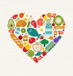 food icon heart shape for health concept vector image