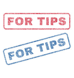 For tips textile stamps vector