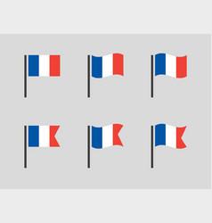French flag symbols set france national flag vector