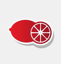 fruits lemon sign new year reddish icon vector image vector image