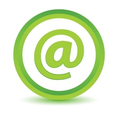 Green email icon vector image