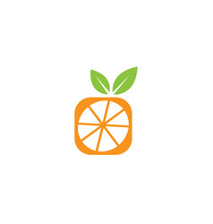 half square orange for logo design vector image