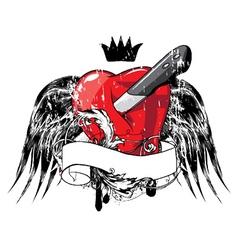 Heart emblem vector