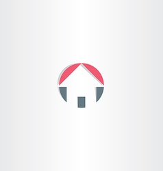 house circle icon element vector image