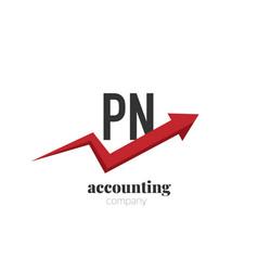 initial letter pn creative finance - money vector image