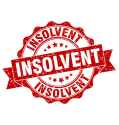 insolvent stamp sign seal vector image
