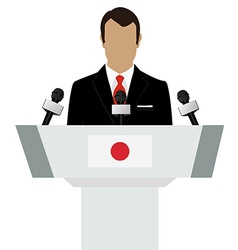 Japan speaker concept vector