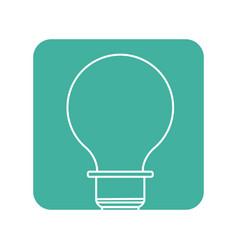 Label energy light bulb icon vector