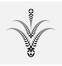 Laurel wreath tattoo Decorative bowl goblet icon vector