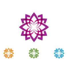 lotus flower nature logo and symbol template vector image