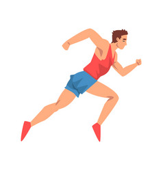 male athlete running sportsman character in vector image