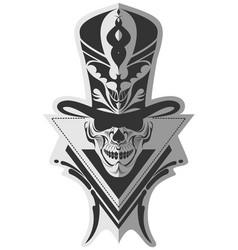 Memorable skull design art vector