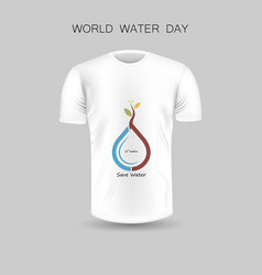 mens t-shirt icon and world water day iconwhite vector image