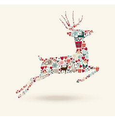 Merry Christmas jump deer vector