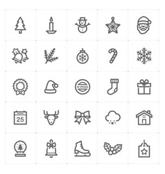 Mini icon set christmas icon vector