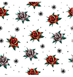 old school tattoo pattern vector image