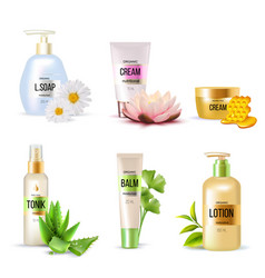 organic cosmetics set vector image