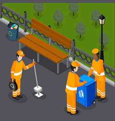 Park cleaning team composition vector
