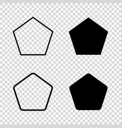 pentagon icon vector image