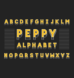 peppy bold font alphabet vector image