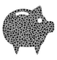 Piggy bank mosaic of dots vector