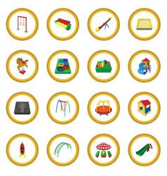 playground cartoon icon circle vector image