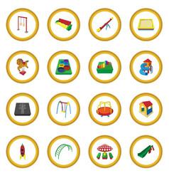 Playground cartoon icon circle vector