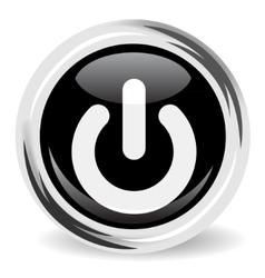 Power button icon vector