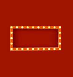 realistic detailed 3d glowing sign rectangle vector image