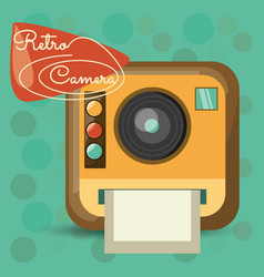 Retro camera pictures design image vector