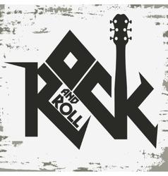 Rock music print vector