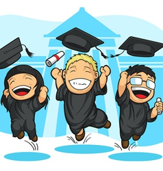 School College Graduation Cartoon vector image