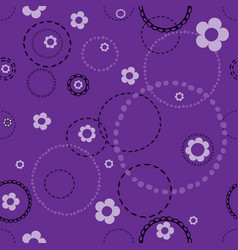 Seamless violet pattern with doodles vector