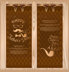 Set banners for fathers day greeting cards vector