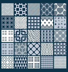 Set endless geometric patterns composed with vector
