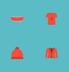 set of dress icons flat style symbols with jacket vector image