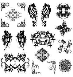 Set Tribal elements vector image