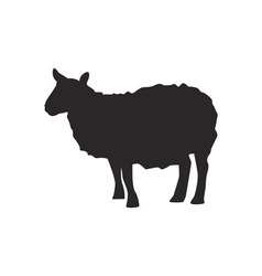 Sheep silhouette vector